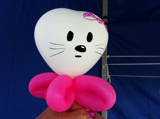 Luftballonfigur Hello Kitty